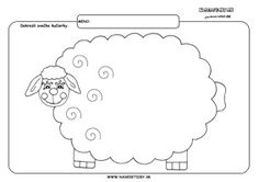 Ovečka - grafomotorika - pracovné listy pre deti