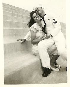"""Original Caption: """"My Grandparents 1945-ish :) A timeless photo of their love. Married 45 years and reunited in heaven June 2, 2014."""""""
