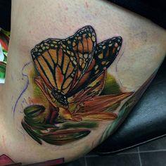 In progress piece by Zac. #skinillustrations #zacbohanan #tattooshop #tattoos #colortattoos #flower #flowertattoos #butterfly #butterflytattoo #workinprogress #skinillustrationsnj #njtattooshop #njtattoos