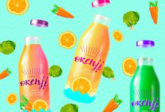 Orenji Vitamin Sea - Natural Juice on Packaging of the World - Creative Package Design Gallery