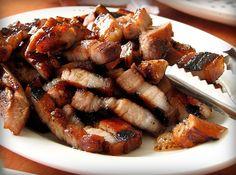 Inihaw na Liempo Recipe (Grilled Marinated Pork) - Filipino food Filipino Dishes, Filipino Recipes, Asian Recipes, Filipino Food, Ethnic Recipes, Healthy Recipes, Grilled Pork Belly Recipe, Pork Belly Recipes, Filipino Grilled Pork Recipe