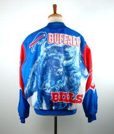 1980's Buffalo Bills Satin Jacket by Chalk Line #ad #nfl #football