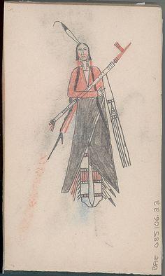 Рисунок из бухгалтерской книги неизвестного художника, Арикара. Период 1875 год.