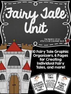Fairy Tale Unit includes Graphic Organizers to use to teach with any Fairy Tale. Students will be able to PUBLISH their very own Fairy Tale with material provided. ***See Preview***Teacher Tips:1. I would create the Fairy Tale booklet ahead of time for students. 2.