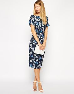 ASOS Wiggle Dress in Butterfly Print