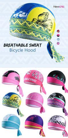 Women Breathable Sweat Outdoor Bike Bicycle Bandana Hat Cycling Helmet Cap Pirate Headwear