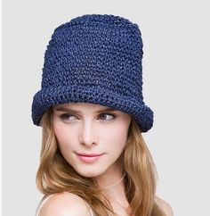 Plain straw hat for women crimping sun hats UV package