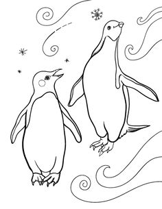 Printable penguin coloring page. Free PDF download at http://coloringcafe.com/coloring-pages/penguin/