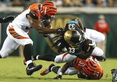Watch Jacksonville Jaguars VS Cincinnati Bengals live for free online in HD. Download the app and enjoy free for 7 days. And you may upgrade it to streaming in HD Nfl Redzone, Nfl Playoffs, Watch Nfl Live, Jaguars Football, Game Live Stream, Thursday Night Football, Nfl Network, Jacksonville Jaguars, Cincinnati Bengals
