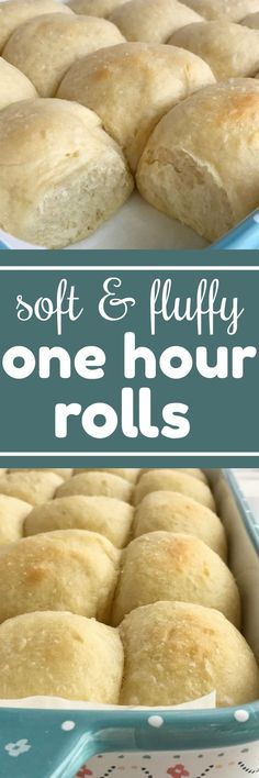 Uses a stand mixer - Soft, fluffy, & buttery rolls in just one hour! Yes it can be done and you won't believe how delicious and fail-proof these rolls are. These one hour rolls are perfect for Thanksgiving dinner or easy enough for a weeknight dinner, Yeast Dinner Rolls Recipe, Yeast Rolls, Thanksgiving Recipes, Holiday Recipes, Buttery Rolls, Savarin, Monkey Bread, Bread Baking, So Little Time