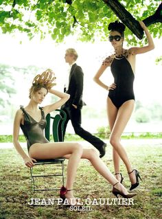 JEAN PAUL GAULTIER SS06 - Maria Carla Boscono, Morgane Dubled, Milagros Schmoll and Jeremy Dufour by Jean Baptiste Mondino