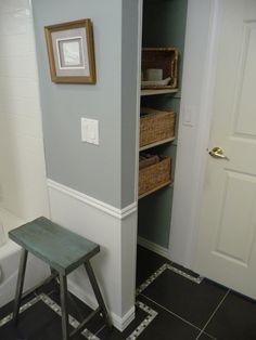 ideas on pinterest pedestal sink linen closets and bathroom closet