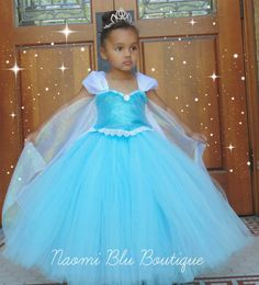 Disney Inspired Frozen Princess Queen Elsa Tutu Dress. Great for birthdays, photos, costume and princess parties