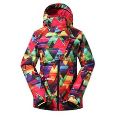 f6c6696512 Gsou Snow Colorful Waterproof Windproof Thermal Ski Snowboard Jacket For  Women