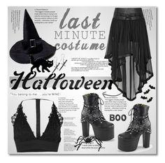 """Last-Minute Halloween Costume"" by cindy88 ❤ liked on Polyvore featuring MACBETH, Demonia, Meri Meri, Crate and Barrel and halloweencostume"