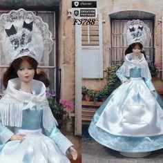 """Robe barbie """" n°8 champagne-ardennes """" tenue pour poupée…"""