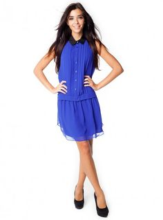 Tux Dress in Cobalt by BCBGeneration. Only $118.00 with Free Shipping & Free Returns!
