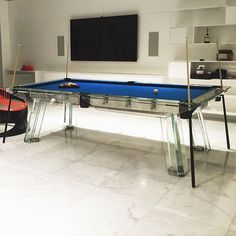 Unique Designer Transparent Acrylic Perspex Pool Table Crazy Pool - Lucite pool table