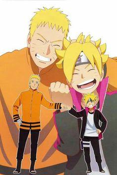 Father and Son Naruto and Boruto Naruto Uzumaki, Anime Naruto, Naruhina, Kakashi Itachi, Sarada Uchiha, Sasunaru, Hinata Hyuga, Gaara, Manga Anime