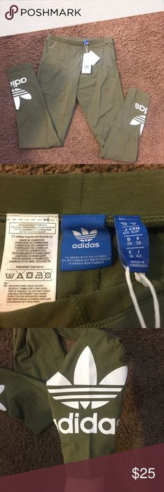 Adidas Logo Leggings Never worn! Tags attached! Just a little too big on me! Let me know if you have any questions! NO TRADES! adidas Pants Leggings