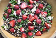"maybe this could get me excited about wild rice! strawberry-wild rice salad with feta & maple balsamic vinaigrette (from ""dinner with julie"")"