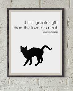 Love #CATS http://etsy.me/2kVUAbD  #Gift #Idea #Etsy #Print #WallArt #Digital #Download #Printable #Quote #Inspirational #Motivational #Cheap #EtsyFinds #EtsyForAll #Stampe #Prints #Decor #EtsyHunter #etsyseller #art #black #instalove #instalike #cats #pets #cute #kitten #dickens Wonderful Wall Art Designs to Brighten your Life!
