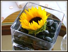 A Special Day Designs DIY Sacramento Lake Tahoe Wedding Flowers: Sunflower Centerpiece / Coloma and Placerville Wedding Flowers Florist
