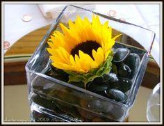 DIY sunflower centerpieces | DIY Sacramento Lake Tahoe Wedding Flowers: Sunflower Centerpiece ...