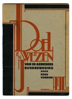 [Fré Cohen] Brochure  Koos Vorrink - Doel en wezen van de Arbeidersjeugdbeweging, uitgave ajc(1929)