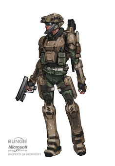 Concept art from halo reach: UNSC marine BDUs, by Isaac Hannaford. Futuristic Armour, Futuristic Art, Armor Concept, Concept Art, Game Concept, Odst Halo, Halo Halo, Halo Armor, Female Marines