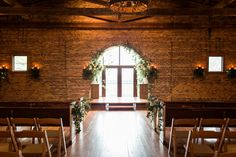 Our ceremony room in the majestic Smith Barn. | Photo taken by: Rustic White Photography