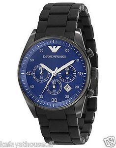 AR5921 Original Men Armani Watch Dial Luminous Calendar Waterproof Quartz  Blue