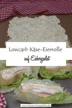 Heute gibt es ein einfaches Rezept mit Eier und Käse aufgerollt zu einer spektakulären Lowcarb Käse-Eierrolle. Auf Eisbergsalat serviert oder mit Cloud Bread ist das ein echt tolles Lowcarb Rezept und ein kleines Highlight auf jedem Osterbrunch... #lowcarbRolle #Käserolle #Cloud Bread #Eierrolle #Eier #Eierrezept Brunch, Grains, Dinner, Paleo, Healthy Wraps, Yummy Food, Finger Food, Meal, Food Dinners