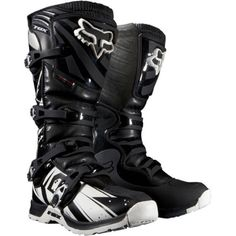 Fox Racing Comp 5 Undertow Youth Boys MX/Off-Road/Dirt Bike Motorcycle Boots - Black / Size 8