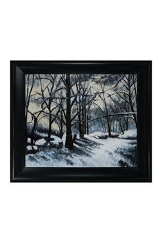 Paul Cezanne Melting Snow Fontainebleau Framed Canvas Wall Art
