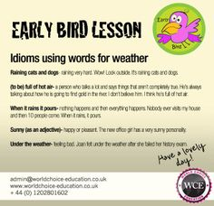 Idioms using words for weather!