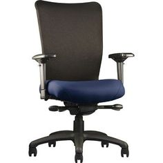 "Neutral Posture U4ia High-Back Desk Chair Arms: 3"" Adjustable, Seat: Large Seat, Upholstery: Ace - Jet"