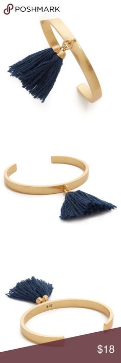 "Madewell Tassel Cuff Bracelet A sleek cuff with a single swingy tassel. Seriously cool worn solo or mixed into your current bracelet rotation. Expect many (many) compliments.  Diameter: 1 3/4"" x 2 1/4"". Brass, zinc, nylon, cubic zirconia. Care instructions: Clean your jewelry after each wearing with a soft cloth. Will list for less on Ⓜ️erc. Madewell Jewelry Bracelets"