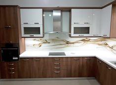 Decor, Kitchen Cabinets, Cabinet, Glass Splashback, Glass Kitchen, Home Decor, Kitchen, Glass