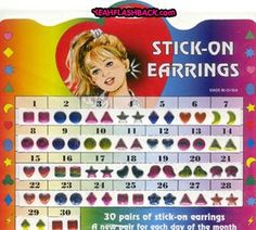 Stick on Earrings - Wore them all the time