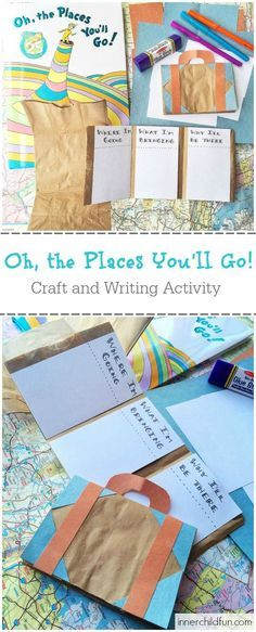 This suitcase craft and writing activity inspired by the Dr. Seuss book Oh, the Places You'll Go! was a big hit with my kids! Here's how to make your own.