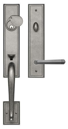 Rockwell San Jose Handle set with Quattro Lever in distressed Nickel finish