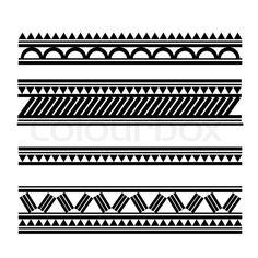 Polynesian Alphabet | Stock vector of 'Maori / Polynesian Style tattoobracelet'
