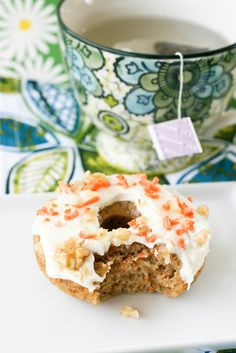 Baked Carrot Cake Donuts I love carrot cake!! And I love  donuts, perfect mix!!!!