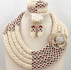 Suitable for all occasions. Wedding, Parties, Church and even casually. This set comes with earrings, bracelet (8 inches) and necklace (18 inches). Thanks ever for looking and contact for other colours