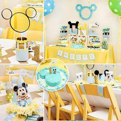 BABY Mickey inspired 1st Birthday Party