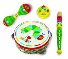 "The Little Musician boxed gift set includes ""The Very Hungry Caterpillar"" tambourine, recorder, maraca and castanet. A great gift for the little Mozart or Mick Jagger you're raising.   	 		 			 				 					Famous Words of Inspiration...""A Canadian is someone who knows how to... more details available at https://perfect-gifts.bestselleroutlets.com/gifts-for-babies/toys-games-gifts-for-babies/product-review-for-world-of-eric-carle-the-very-hungry-caterpillar-"
