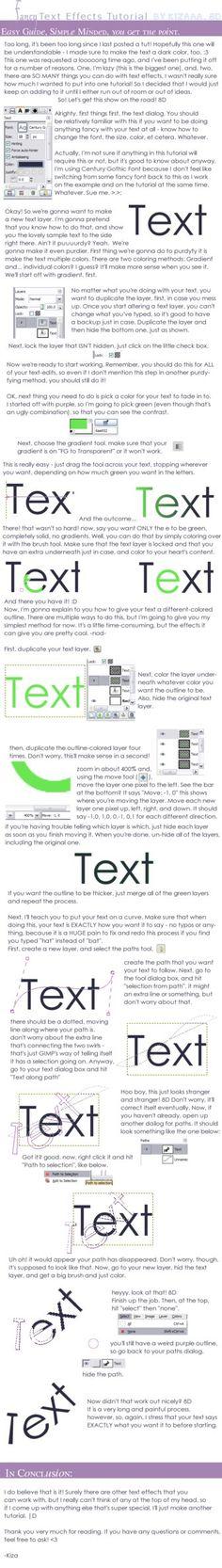 Gimp text tutorial