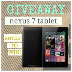 Nexus 7 Tablet GIVEAWAY -- this one is HUGE! ~ ends at 12:01 EST on Tuesday September 18th.