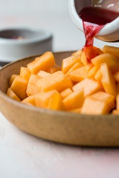 This recipe for Orange Blossom Marinated Cantaloupe can be kept in your fridge for you to grab as needed throughout your busy day to cool you off and refresh your mind! Cantaloupe Recipes, Recipe Boards, Orange Recipes, Orange Blossom, Sweet Potato, Carrots, Potatoes, Canning, Vegetables